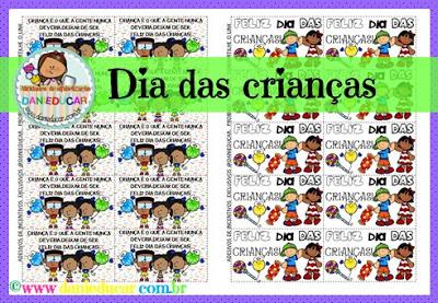 Datas comemorativas, Dia das crianças, etiqueta , adesivo, Incentivos, sala de aula, PDF,