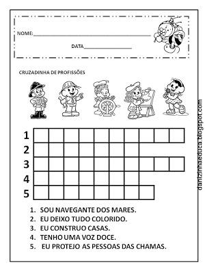 Datas comemorativas, Dia do trabalho, Educação Infantil, alfabetização,