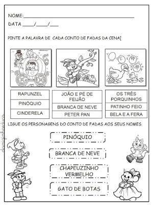 Atividades com livros de literatura infantil, Atividades de alfabetização, Contos de fadas, atividades de escrita,
